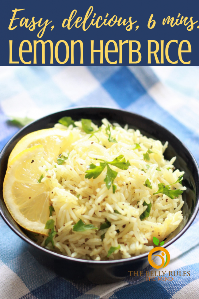 Lemon Rice in a bowl
