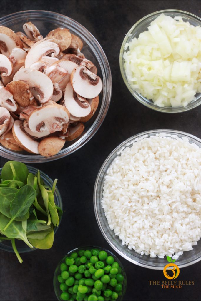 mushroom risotto ingredents