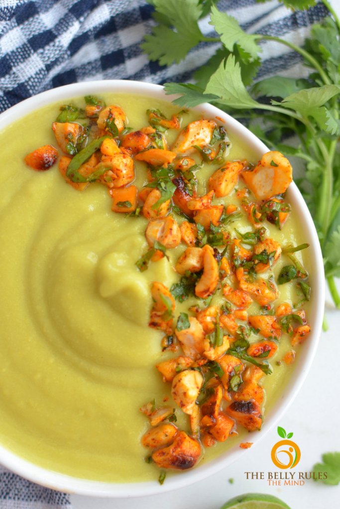 vegan cauliflower soup , creay cauliflower soup