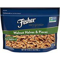 FISHER Chef's Naturals Walnut Halves & Pieces, No Preservatives, Non-GMO, 16 oz