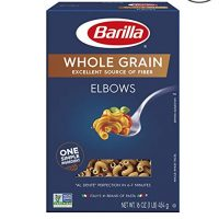 Barilla Whole Grain Pasta, Elbows, 16 Ounce (Pack of 8)