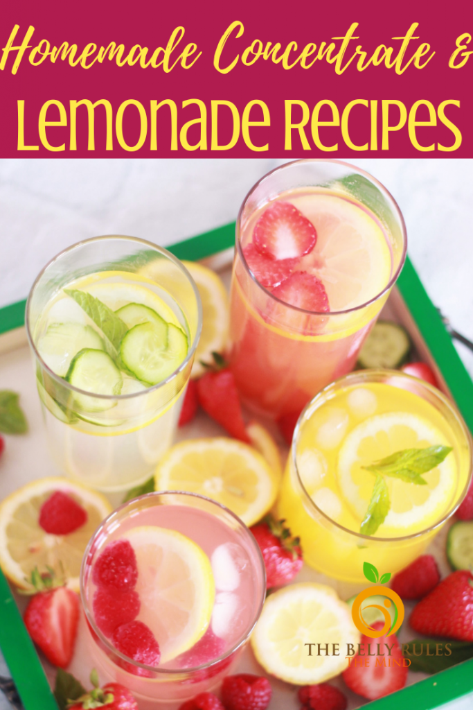 5 Easy Homemade Lemonade Recipes The Belly Rules The Mind