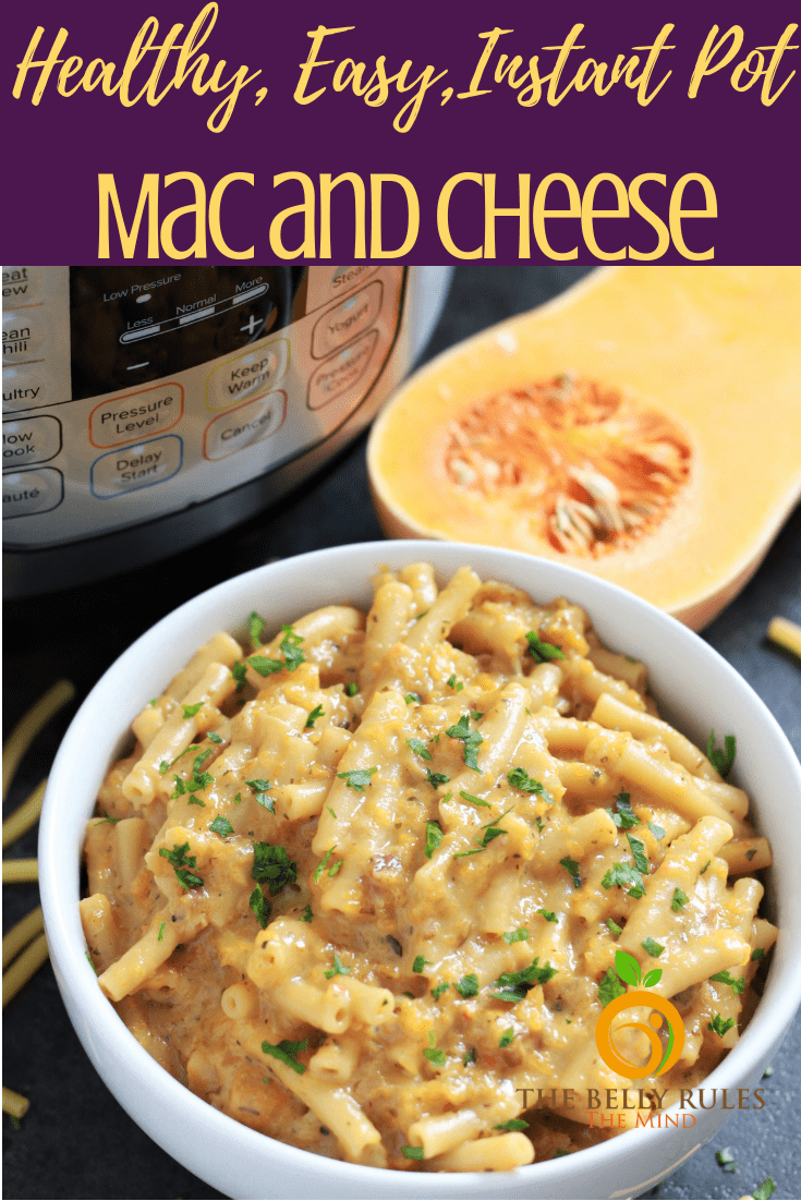 Easy Mac and Cheese recipe - a quick, healthier and homemade meal packed with nutrition minus the ton loads of butter, flour & evaporated milk.  Find out our secret to make healthy mac and cheese. Creamy, delicious and soon to become your go-to mac and cheese recipe. Instant Pot Recipe. #macandcheese #macandcheeserecipe #healthymacandcheese #easymacandcheese #instantpotmacandcheese #butternutsquashmacandcheese