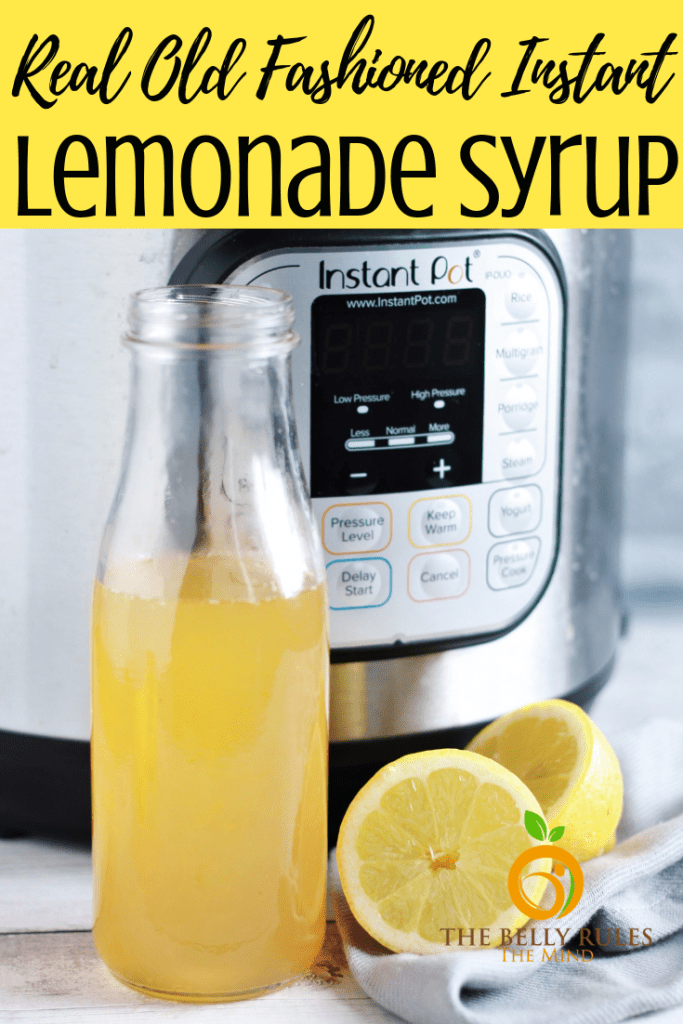 Lemonade concentrate syrup make in Instant Pot