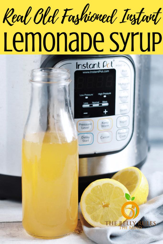 homemade lemonade syrup