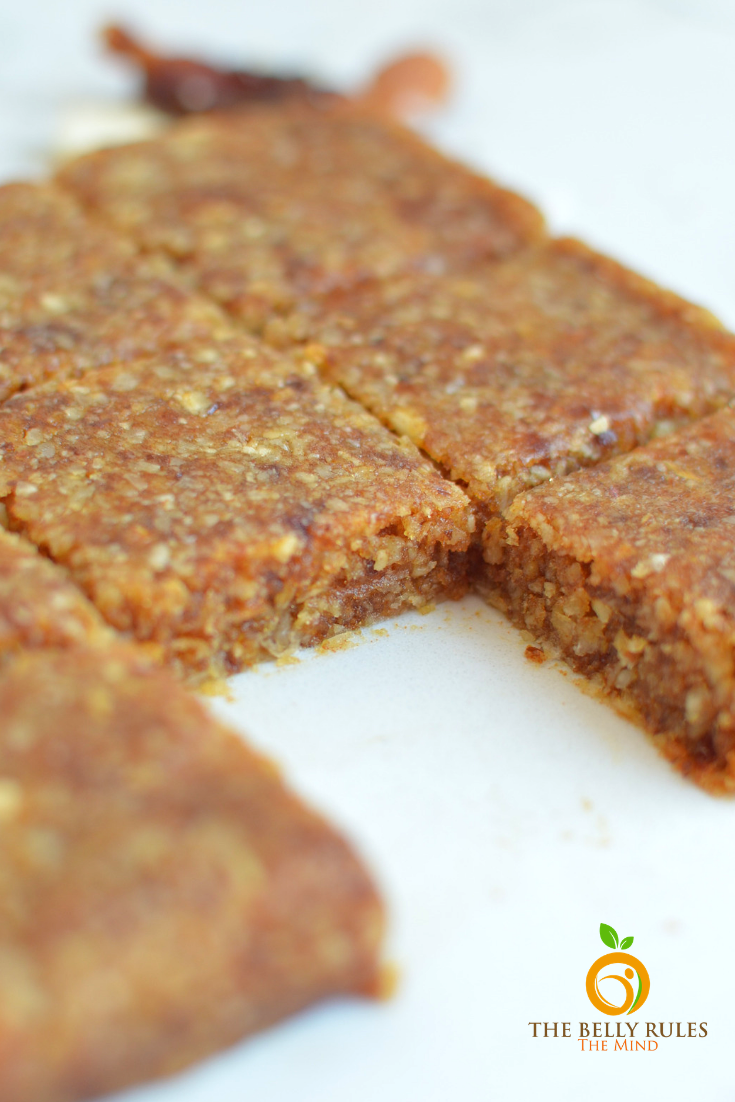 Sugar Free Homemade Almond & Dates Energy Bars