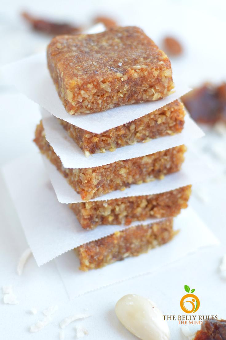 Sugar Free Homemade Almond & Dates Energy Bars