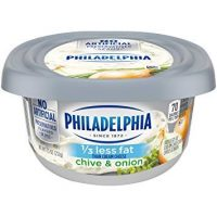 Philadelphia Light Cream Cheese with Chive and Onion 7.5oz