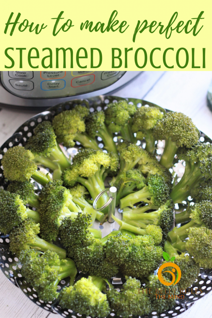 Steamed Broccoli is the healthiest and easiest way to consume broccoli. Here is how to steam broccoli perfectly (crispy tender) every time so that it retains it's green color and nutrients. Enhance the flavors with some garlic salt, pepper, butter and lemon juice and this makes a perfect side. Kid Approved. Vegan. Gluten-Free. #steamedbroccoli #steamedbroccolirecipe #instantpotbroccoli #mealthybroccoli #howlongtosteambroccoli