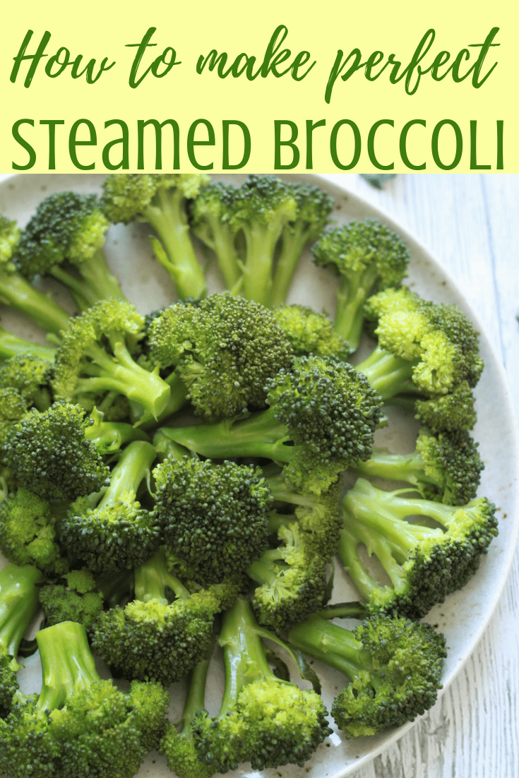 Steamed Broccoli is the healthiest and easiest way to consume broccoli. Here is how to steam broccoli perfectly (crisp tender) every time so that it retains it's green color and nutrients. Enhance the flavors with some garlic salt, pepper, butter and lemon juice and this makes a perfect side. Kid Approved. Vegan. Gluten-Free #steamedbroccoli #hottosteambroccoli #steamedbroccolirecipe #instantpotbroccoli #broccolirecipe