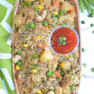 instant pot Pineapple quinoa fried rice