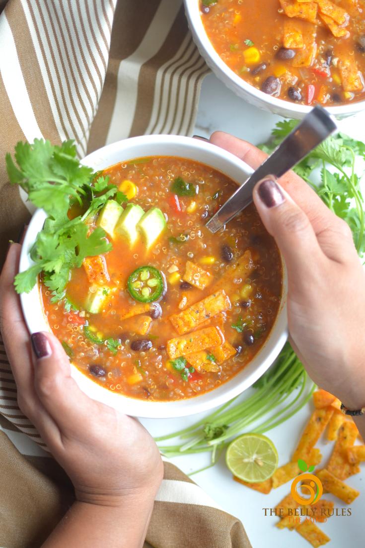 instant pot tortilla quinoa soup