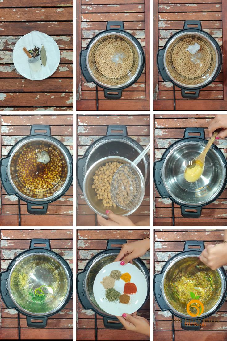 Punjabi Pindi Chole / Indian Style Dry Garbanzo Beans