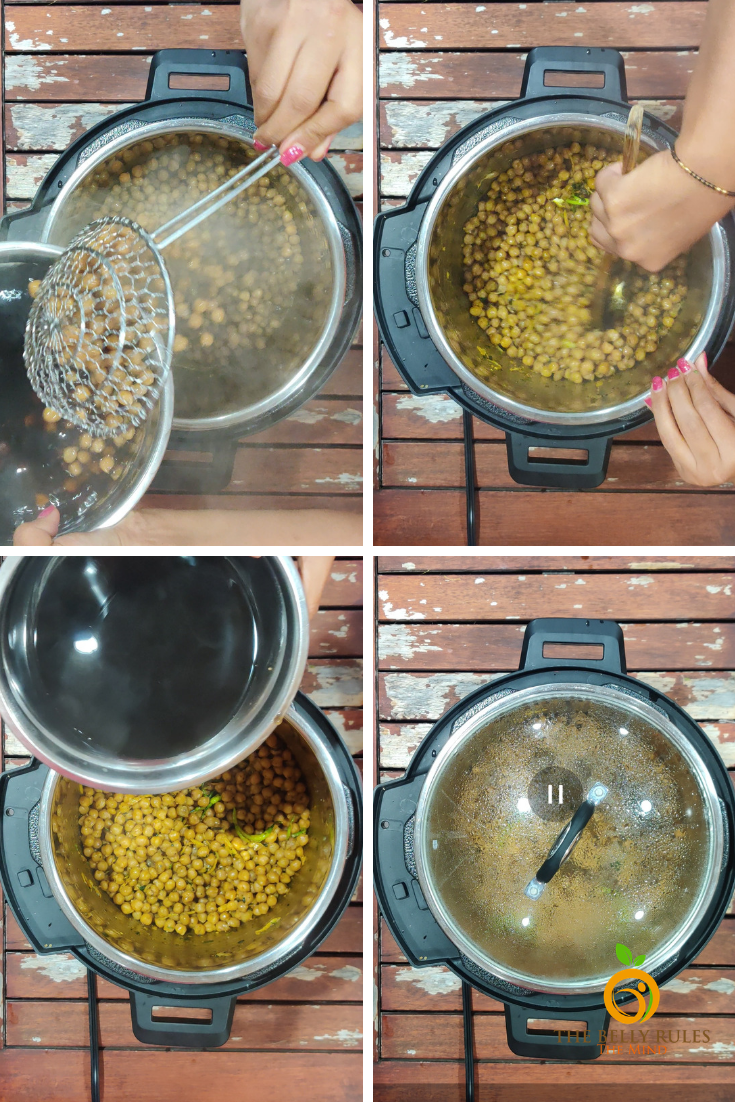 Punjabi Pindi Chole / Indian Style Dry Garbanzo Beans