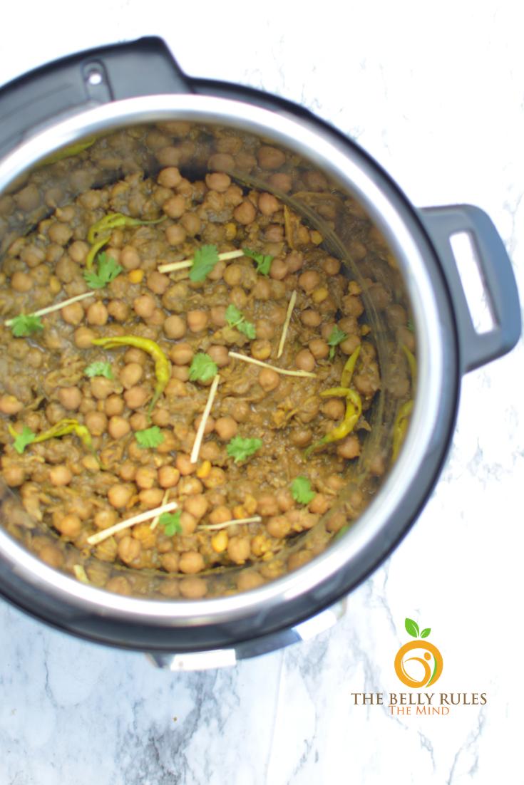 Punjabi Pindi Chole _ Indian Style Dry Garbanzo Beans