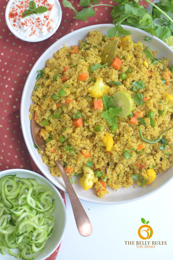 instant pot vegetable quinoa pulav