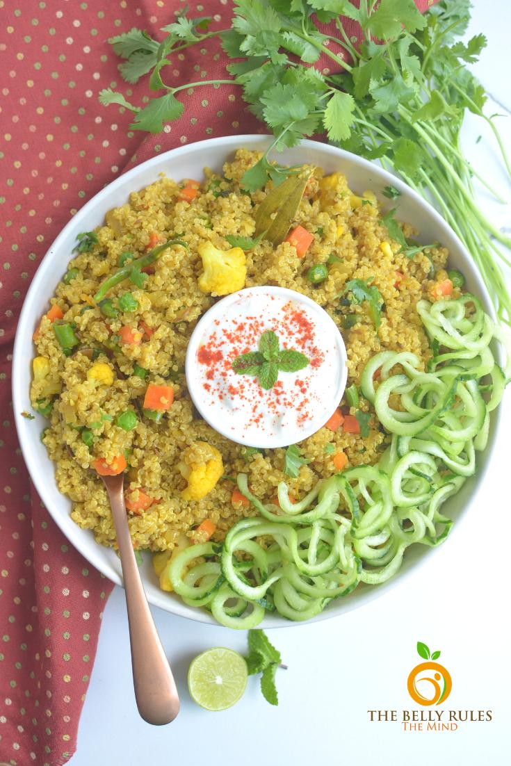 instant pot vegetable quinoa pulav_pilaf