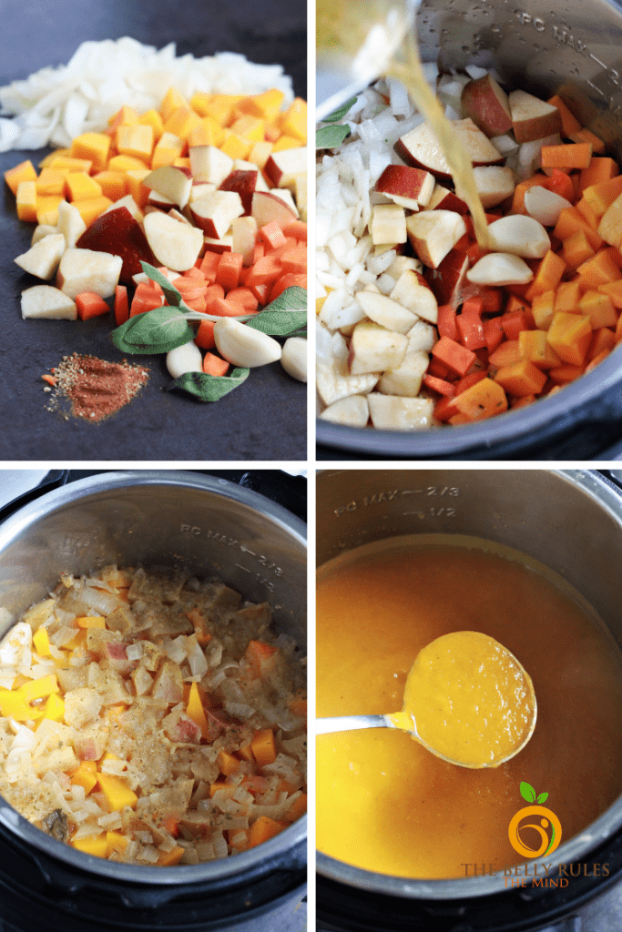how to make the best butternut squash apple soup in instant pot