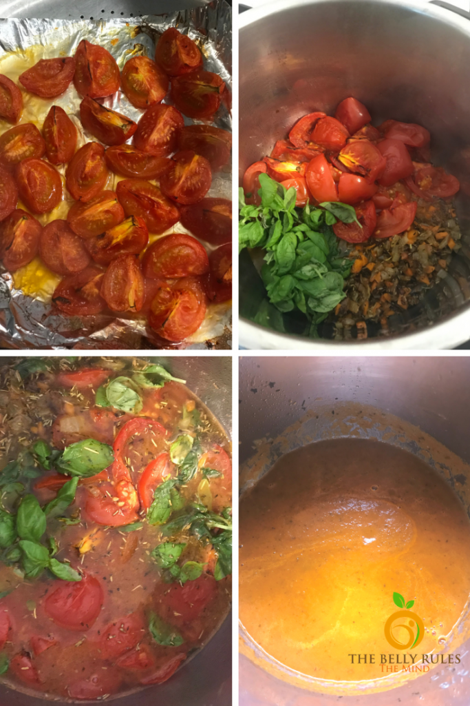 Step by Step instructions on how to make Instant Pot Tomato Basil Soup recipe
