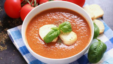 Instant Pot Tomato Basil Soup Recipe