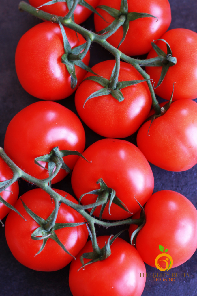 Tomatoes used for tomato basil soup recipe