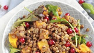 Instant Pot Lentil Salad with Roasted Butternut Squash