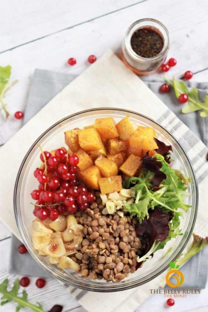 lentil salad with roasted butternut squash recipe