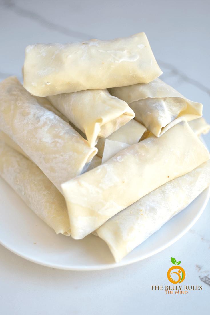 Air fryer southwest egg rolls