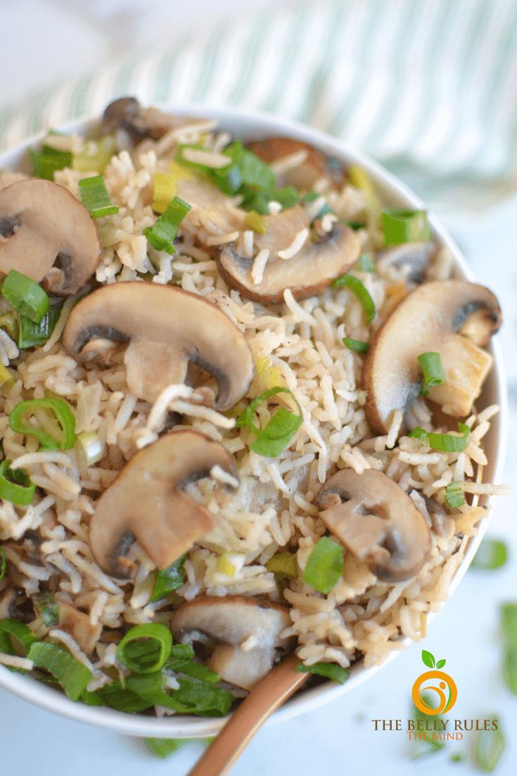 Instant Pot Mushroom Rice Pilaf