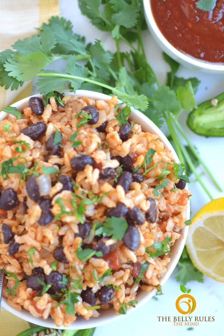 Easy Mexican Instant Pot Rice and beans