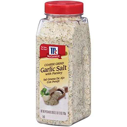 McCormick Coarse Grind Garlic Salt With Parsley, 28 oz