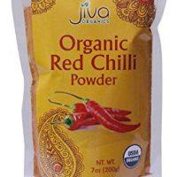 Organic Red Chilli Powder 7 Ounce - Non GMO Extra Hot Chili - by Jiva Organics