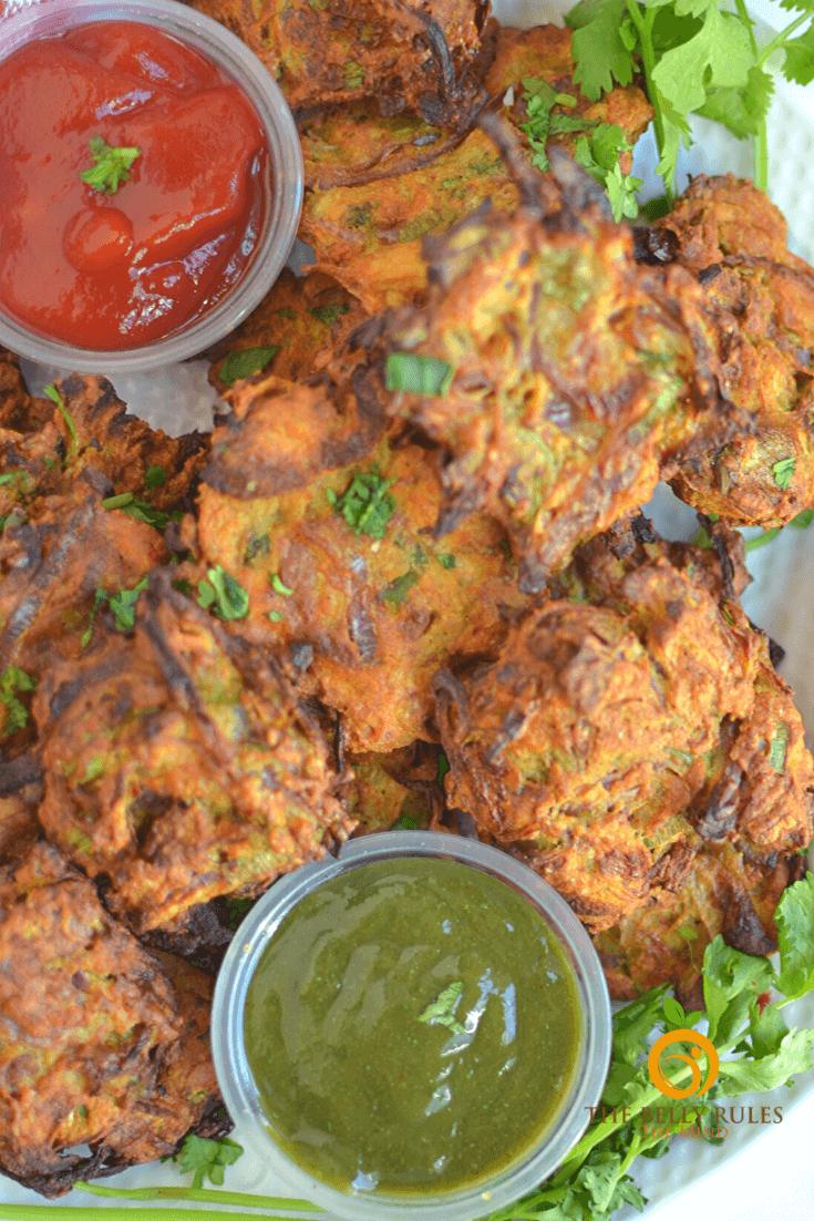 Air fryer Onion Bhajj