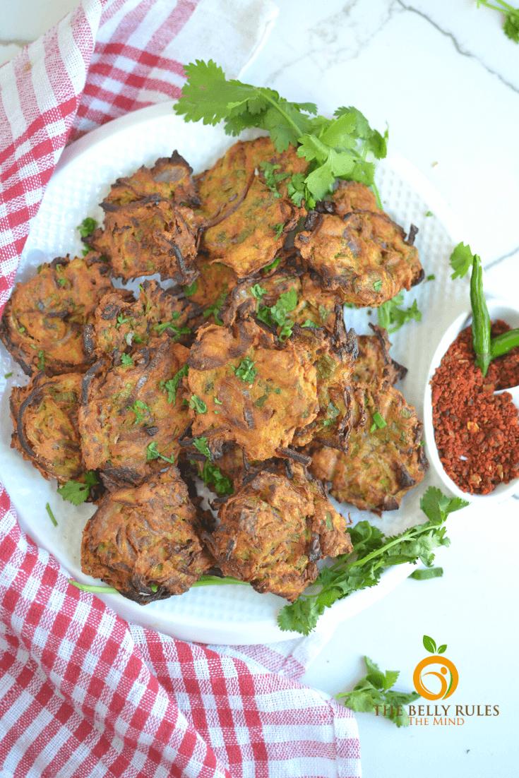 Air fryer Onion Bhajji