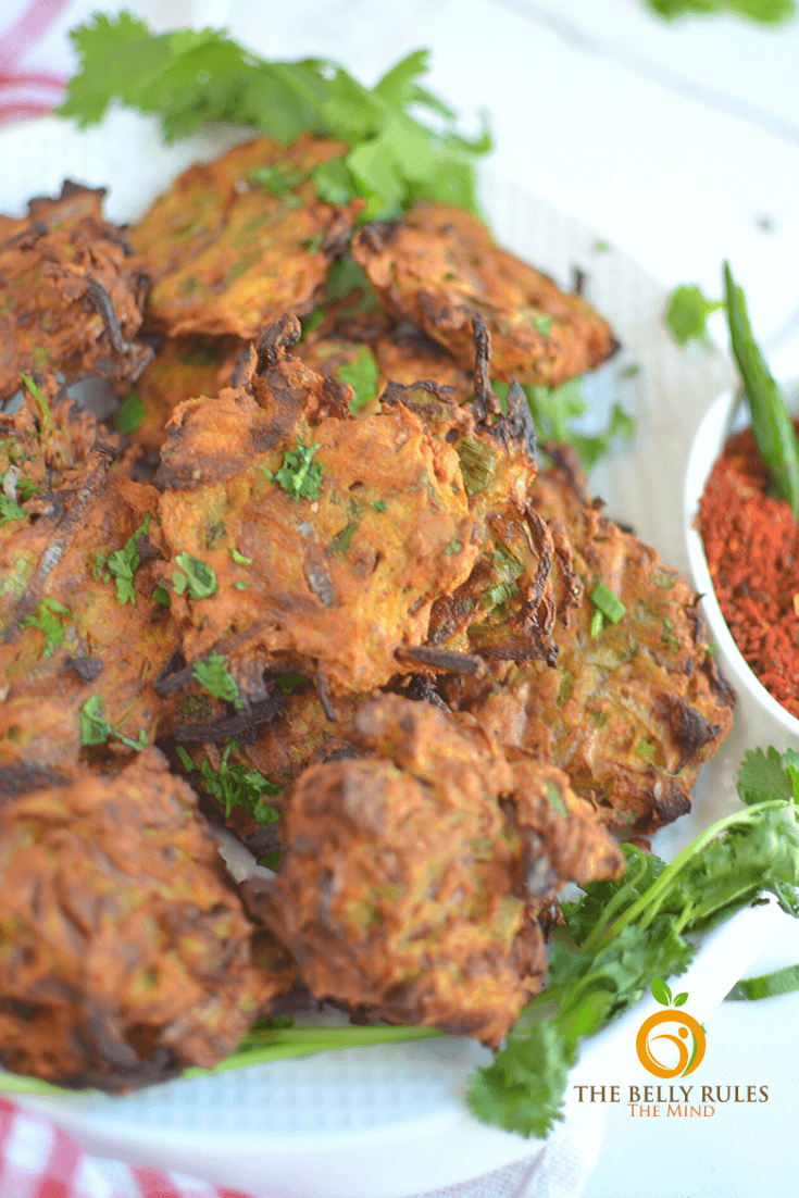 Air fryer Onion Bhajji