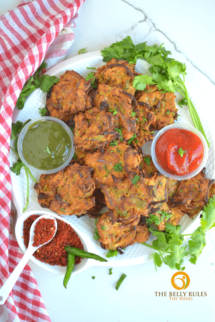 Air fryer Onion Bhajj