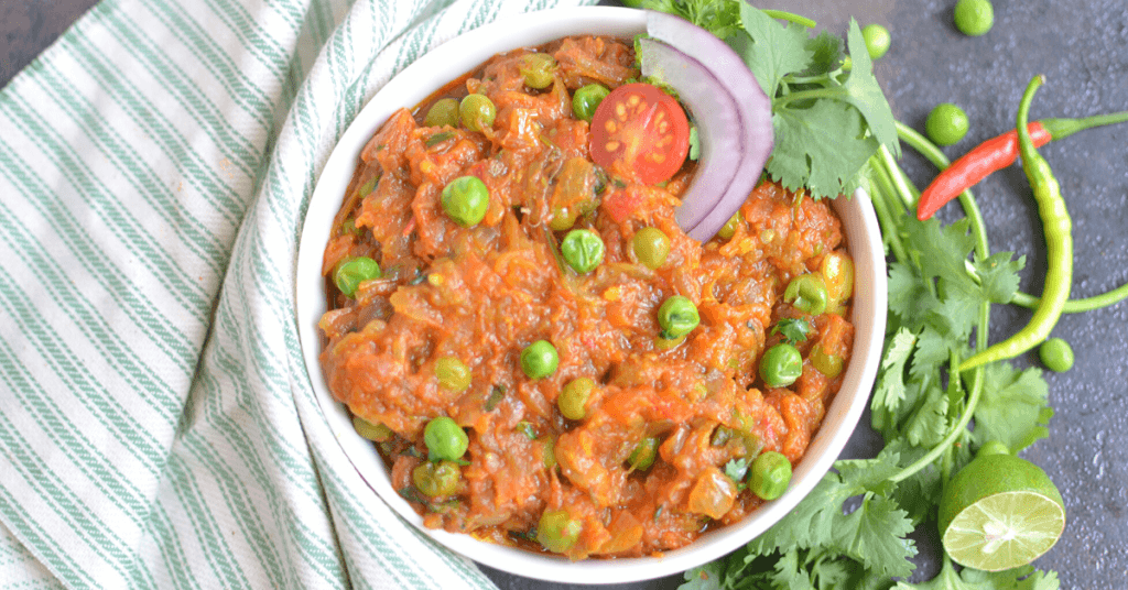 Looking for a way to simplify baingan bharta for satisfying lunch you can make ahead of time? My Instant Pot baingan bharta takes this traditional recipe and updates it and simplifies it so you can make this yummy vegetarian meal for your family with a fraction of the time and effort.