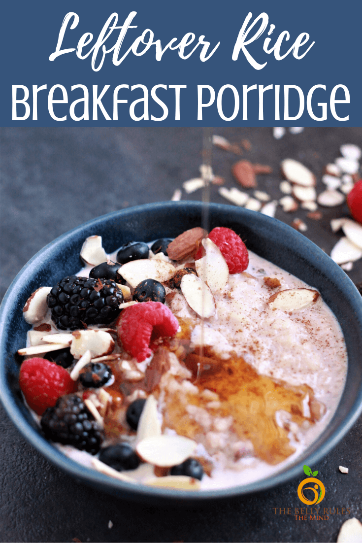 Instant Pot Breakfast Rice Porridge Recipe– A quick and easy way to transform leftover rice into a delicious breakfast with your favorite toppings. Don't have leftover rice, you can make this porridge from scratch too. Naturally sweetened. Vegan & stove top option included. Freezer friendly.