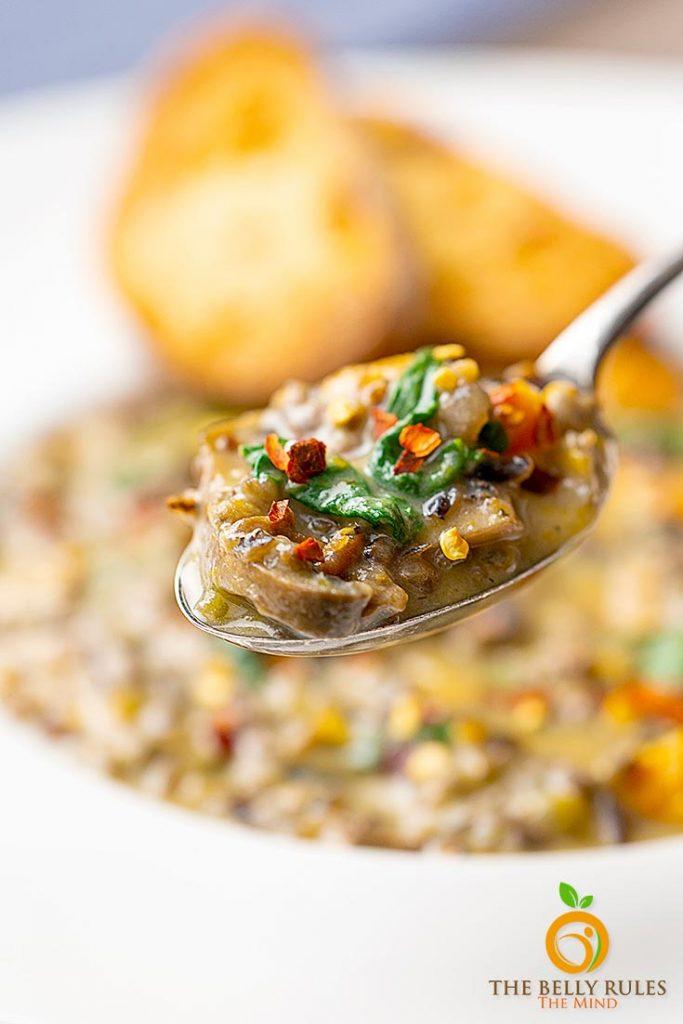 instant pot wild rice and mushroom soup recipe