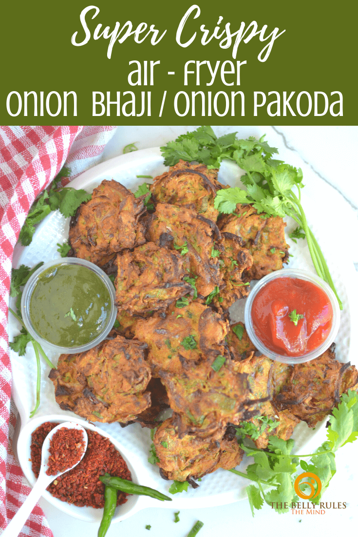 air fryer onion bhaji _ onion pakoda