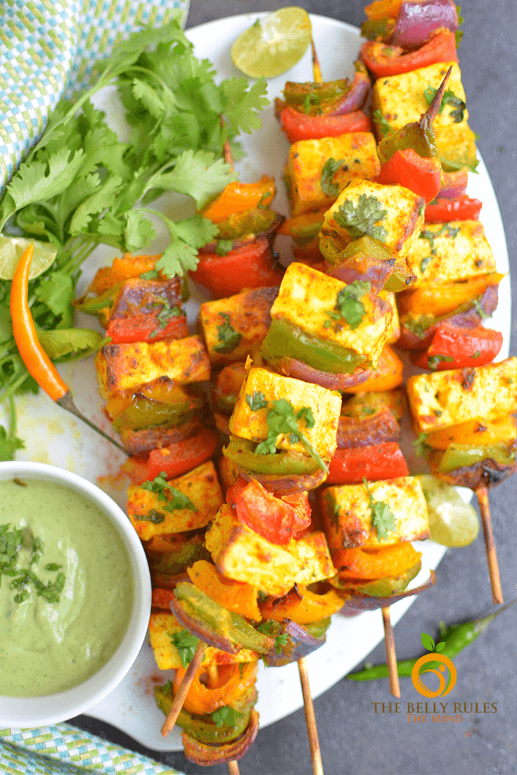 air fryer tandoori paneer tikka (5)
