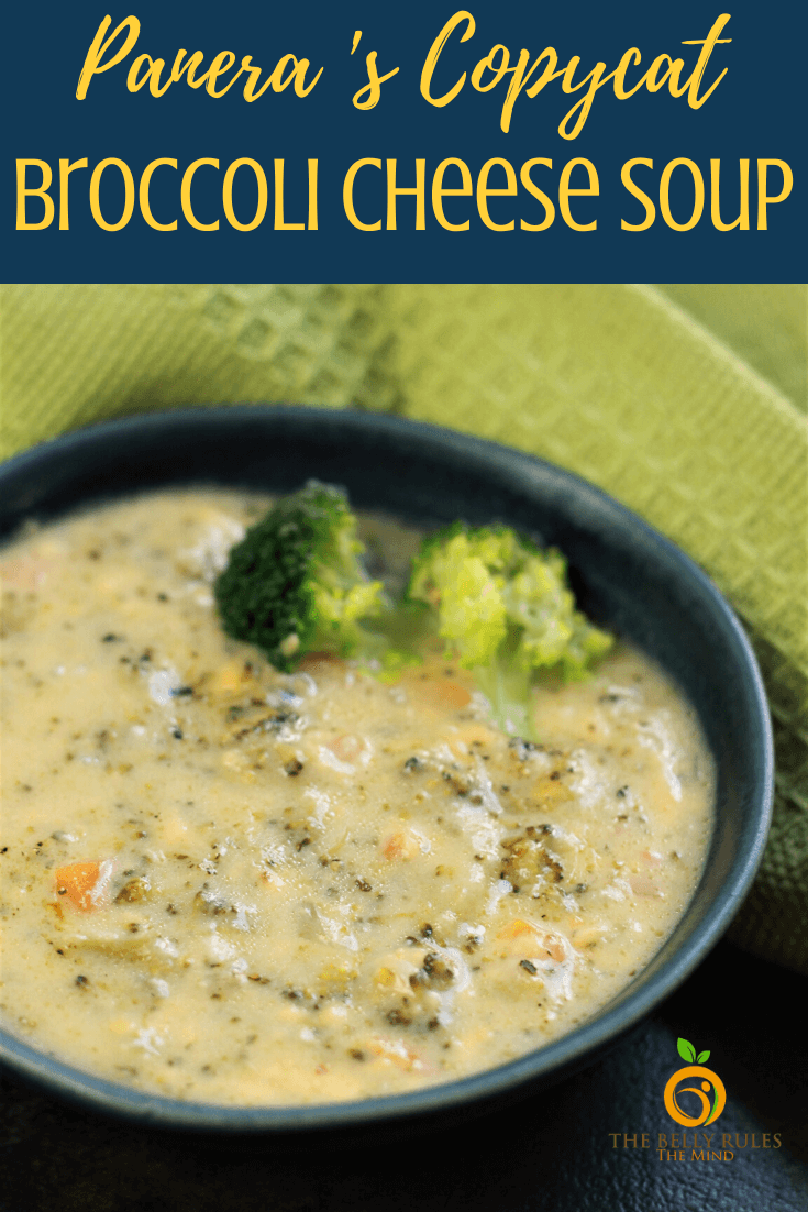 Instant Pot Broccoli Cheese Soup - This Panera Bread's copycat Broccoli Cheese Soup is so easy to make at home. Literally dump and stir the ingredients in your Instant Pot, no making the roux separately and you will be surprised how creamy and delicious this soup turns out. Ready in less than 20 minutes from start to scratch this is a perfect for a weeknight meal. Meal Prep Idea. Freezer Friendly. Vegan and Gluten-free options included.