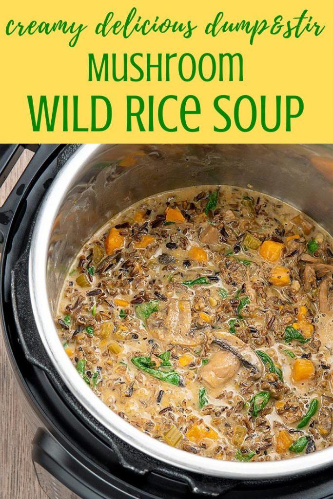 instant pot wild rice mushroom soup