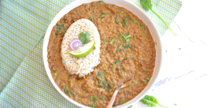 instant pot brown lentil curry