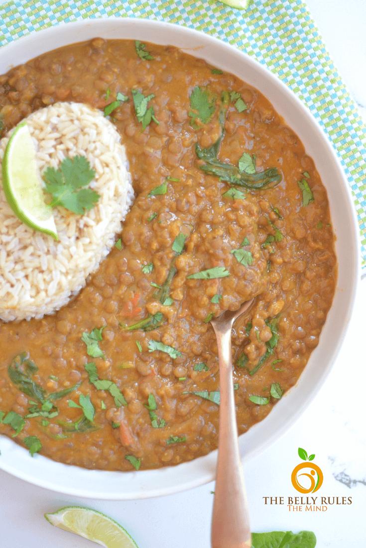 instant pot lentil curry