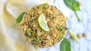 Instant pot Spinach Rice / Pulao