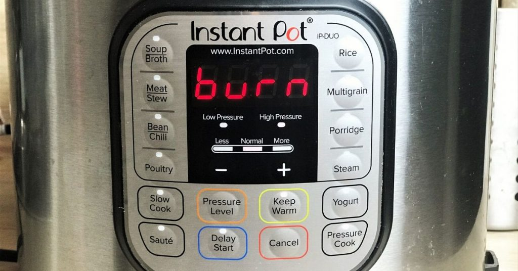 Instant Pot Says Burn