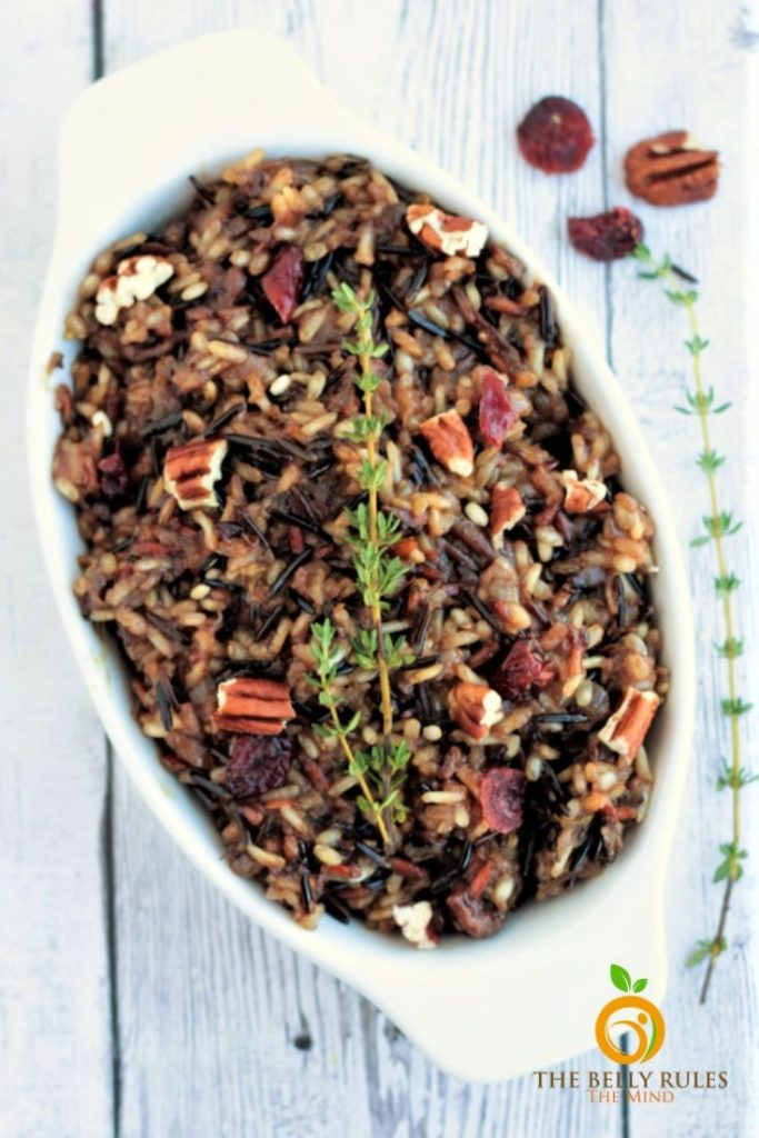 Instant Pot wild Rice Pilaf in a bowl