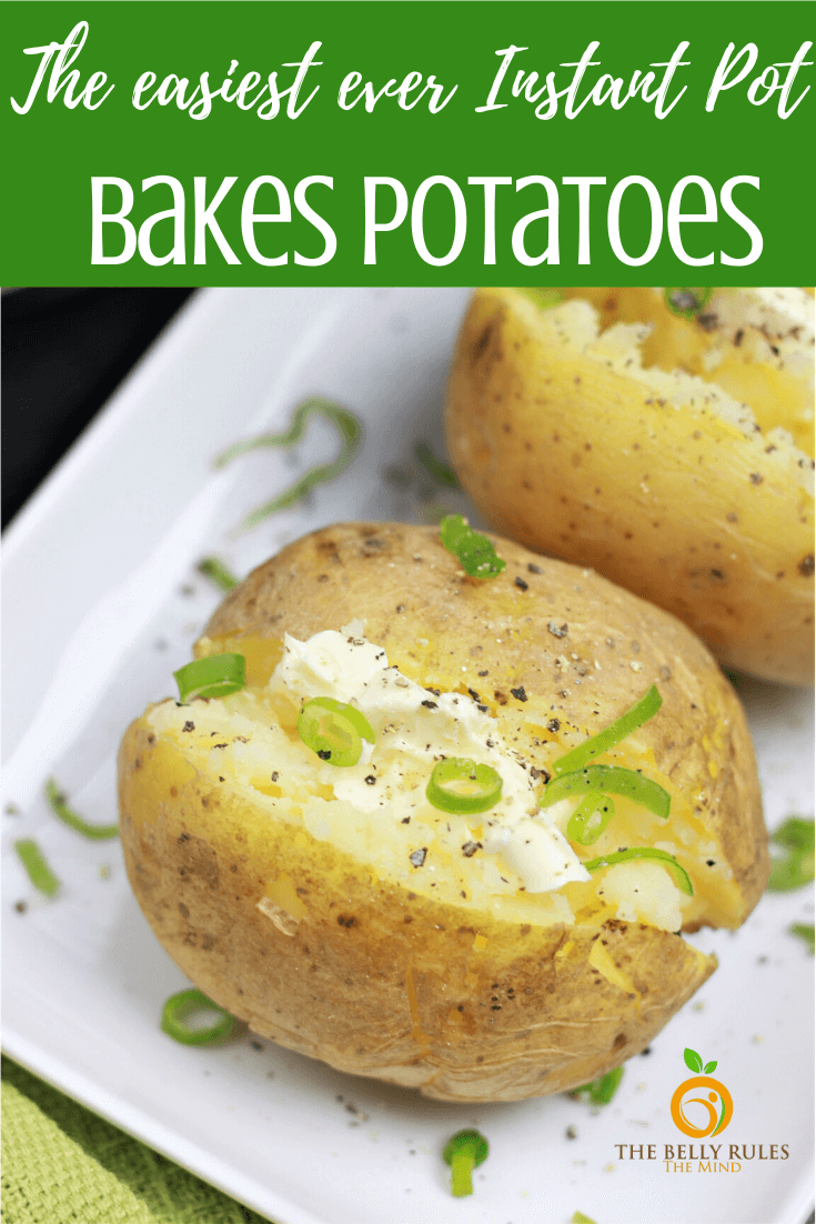 Learn how to make the perfectly tender Instant Pot Baked Potatoes in a fraction of the time taken by the oven. Fluffy & creamy. Perfect side dish with any meal. Perfect for family meal preps or parties and potlucks.