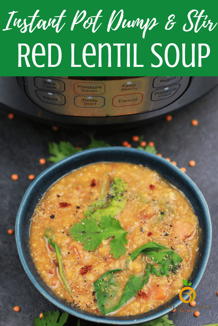 Easy Red Lentil Soup with Lemon Recipe - An easy nutritious soup that is easy to put together and so comforting. Dump and stir recipe. Something about this soup really warms the soul. Plant-based protein powerhouse and full of flavors. Perfect weeknight meal and great when entertaining vegans or vegetarians or when you want to reset your body from indulging. Vegan. Gluten-Free. Freezer-friendly. Instant Pot Video Recipe + Stove Top Recipe.